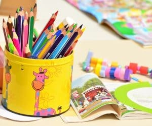 Canva Colored Pencils in a Tin Can 300x250