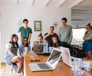 Canva Group of People Watching on Laptop 300x250