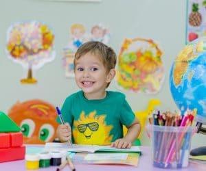 Canva Little Boy in Art Class 300x250